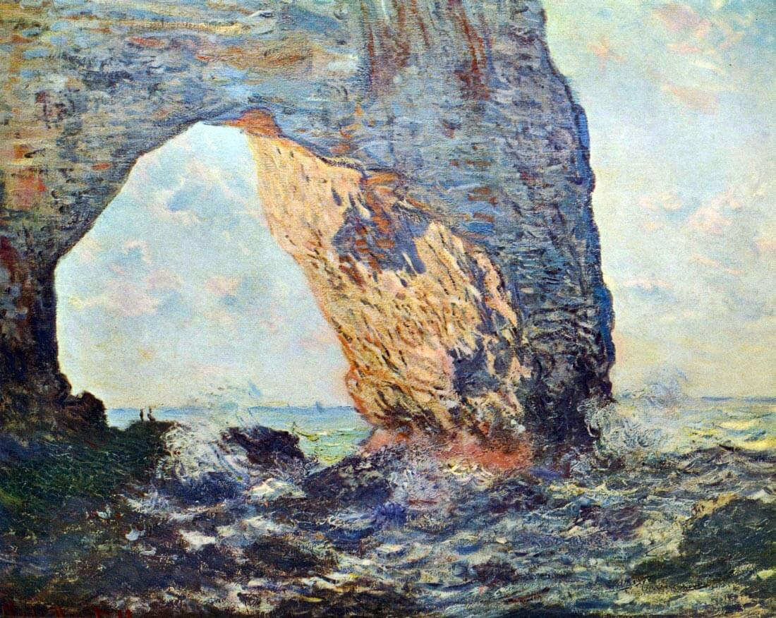 The rocky cliffs of Étretat (La Porte man) [1] - Monet
